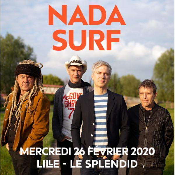 NADA SURF - LE SPLENDID - LILLE - MER. 26/02/2020 à 20H00